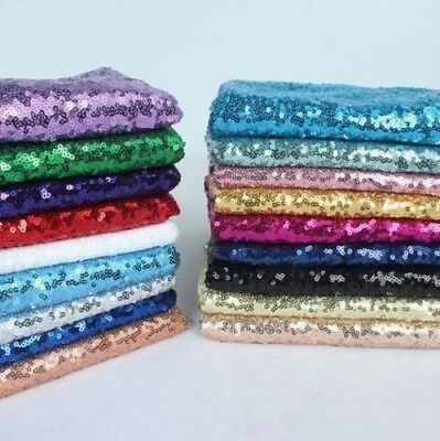 Sequin Fabric Sparkly Shiny Bling Material Cloth 130cm Wide Sample 1, 1/2 Metre • 4.99£