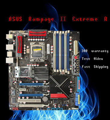 $ CDN322.49 • Buy For ASUS Rampage II Extreme REV.2.01G Motherboard Intel X58 LGA1366 Tested