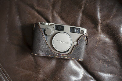 $ CDN75.74 • Buy Handmade Genuine Real Leather Half Camera Case Bag Cover For Contax G2