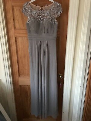 Bridesmaid Dress Size 12 Mink/grey/lilac Brand New Unused  • 40£