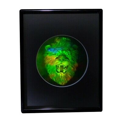 £32.41 • Buy 3D Lion Head Hologram Picture(FRAMED), Collectible EMBOSSED Type Film