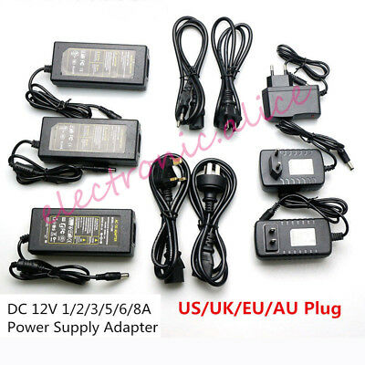 $ CDN4.49 • Buy AC110 220V Power Supply Adapter Transformer LED Strip 2A 3A 5A 8A DC 5V 12V 24V