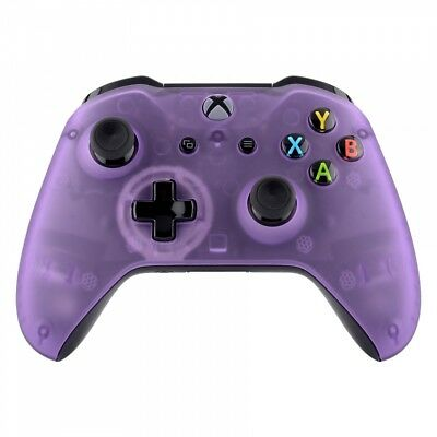 $15.99 • Buy NEW Foggy Clear Purple Faceplate Front Housing Shell For Xbox One S X Controller