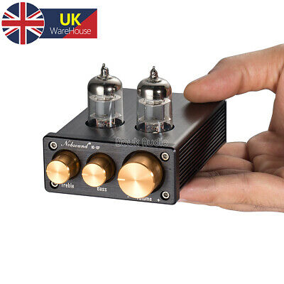 Nobsound Mini Valve Tube Preamp HiFi Stereo Audio Pre-Amplifier Tone Control • 36.99£