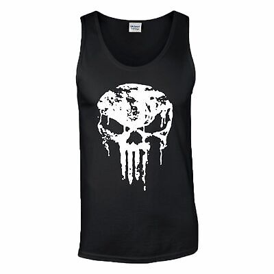 The Punisher Skull Gym Training Tank Top Crossfit MMA UFC Fight Mens Vest Gift • 9.99£