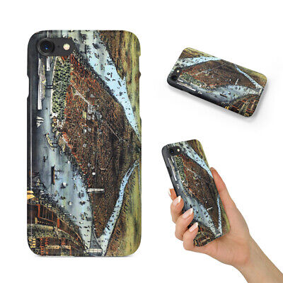 Old World Map Sketch Art #3 Case Iphone 4 4s 5 5c 5s Se 6 6s 7 8 X Plus • 5.51£