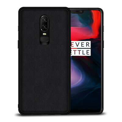 AU12.95 • Buy For OnePlus 6T 6 5T Deluxe Fabric Leather+tpu Slim Back Cover Case