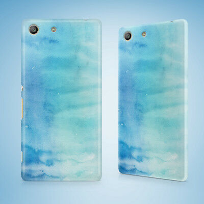 AU9.95 • Buy Winter Watercolor Ice Blue 9 Hard Case Sony Xperia Z Z1 Z2 Z3 Z4 Z5 Compact