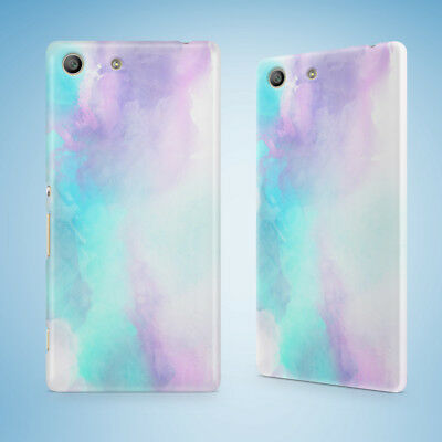AU9.95 • Buy White Blue Watercolor 75 Hard Case Sony Xperia Z Z1 Z2 Z3 Z4 Z5 Compact