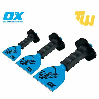 £11.99 • Buy OX Tools Bolster Chisel Rubber Guard For Brick Masonry Various Sizes 2 1/4  & 4