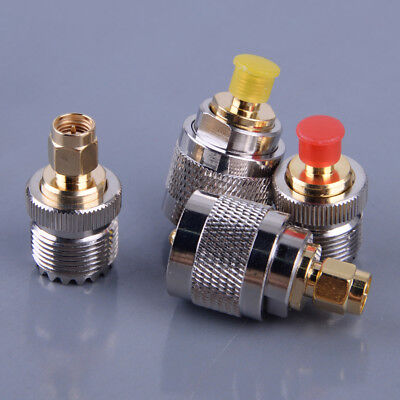 4Pcs/set Kit Adapter PL259 SO239 To SMA Male Female RF Connector Test Converter • 7.68£