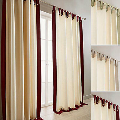 Harlington Faux Silk Tab Top Lined Curtains (Pair Of) - Choice Of Colours & Size • 27.50£