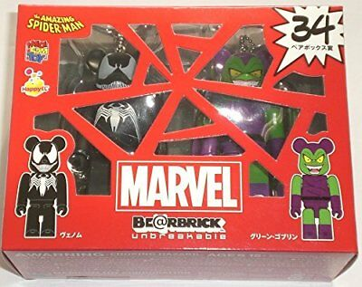 $89.77 • Buy Bearbrick Marvel Heroes Happy Lottery Prize 34 Venom & Green Goblin Figure