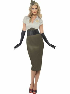 Womens 1940s WW2 Army Pin Up Spice Darling Fancy Dress Costume Ladies Outfit • 31.49£