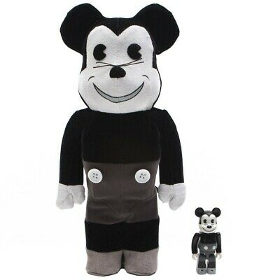 $179.99 • Buy Medicom BE@RBRICK Mickey Mouse Vintage Ver. Black & White 100% 400% Bearbrick Fi