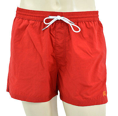 $135 • Buy $225 BURBERRY Brit Red Lightweight Swim Shorts Trunks NEW COLLECTION