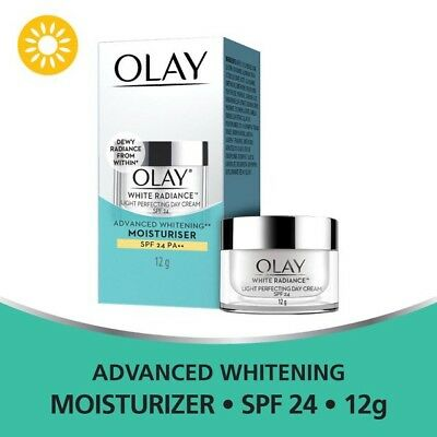 AU29.70 • Buy Olay White Radiance Light Intensive Perfecting Day Cream SPF 24 Moisturizer 12 G