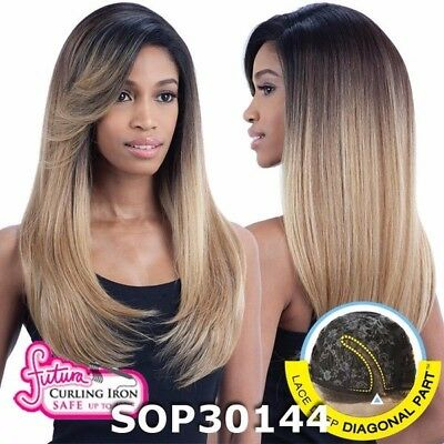 £33.13 • Buy Equal Synthetic Invisible Lace Front L Part Long Straight HAIR Wig Sunny Blossom