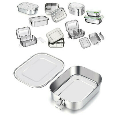 GA Stainless Steel Lunch Box Bento Food Container Storage Travel Camping Child • 12.99£