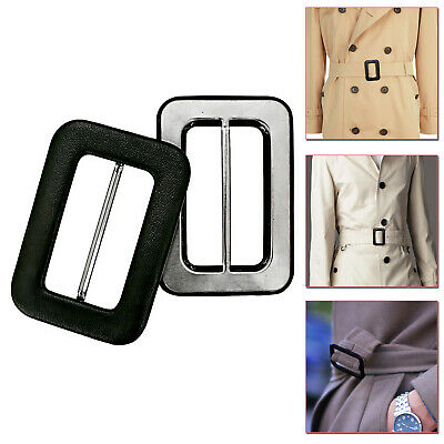 £3.48 • Buy Covered Coated Belt Buckles Arts Crafts For Fashionable Clothing Leather Jacket