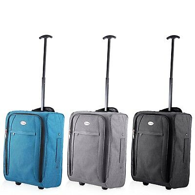 £12.99 • Buy Ryanair Easyjet Flybe Cabin Approved Flight Trolley Suitcase Luggage Case Bag