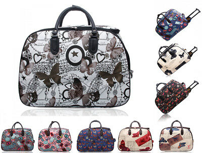 New Cabin Wheeled Butterfly Print Carry-on Trolley Suitcase Travel Luggage Bag • 19.99£