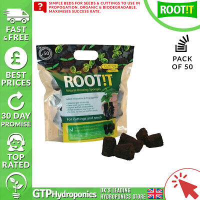 £12.23 • Buy Root It Natural Rooting Sponges X50 - ROOT!T Propagation Cubes Refill Peat Bark