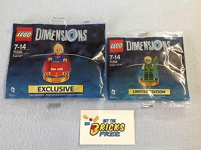 AU89.99 • Buy Lego Dimensions Lot Of 2 71340 & 71342 Polybags New/Sealed/Retired/Hard To Find