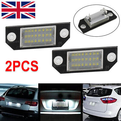 LED Licence Number Plate Light No Error For Ford Fiesta Focus C-Max Ford FOCUS • 7.59£