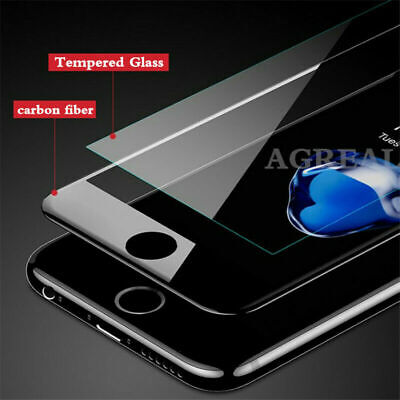 IPhone 7 8 Plus 3D Full Edge To Edge WHITE BLACK Tempered Glass Screen Protector • 2.49£