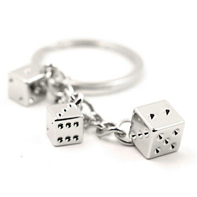 Cute Dice Keychain LOVER Couples3 Pendants Key Ring Accessories Bag Pendant Gift • 1.59£