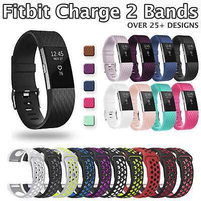 AU4.95 • Buy For Fitbit Charge 2 Replacement Sports Band Strap Silicone Wrist Watch Bands