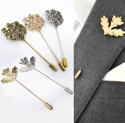 Trendy Brooches Double Lion Suit Pin Men's Cloth Brooch Pin Wedding Party Dress • 3.49£
