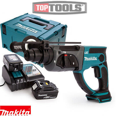 Makita DHR202Z 18V SDS+ Hammer Drill + 2 X 3Ah Batteries, Charger, Case & Inlay • 258.50£