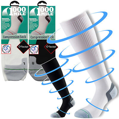 1000 Mile Compression Mens Womens Circulation Recovery Running Walking Socks • 11.99£