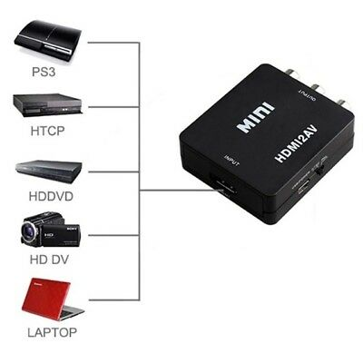Composite HDMI To AV CVBS 3RCA Video Converter Adapter 1080p USB Cable UK • 4.79£