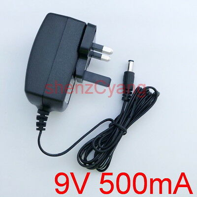 UK 9V 500mA GENUINE DVE AC/DC Switching Power Adapter 0.5A Supply DC Plug 5.5mm • 2.89£