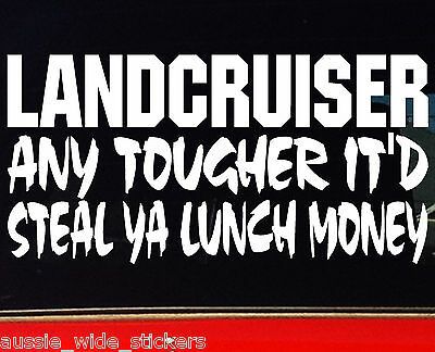 AU6.90 • Buy 200mm Funny Offroad 4x4 Series Car Stickers LUNCH MONEY LAND CRUISER