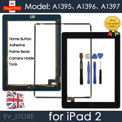 £6.92 • Buy For IPad 2 A1395 A1396 A1397 Black Digitizer Touch Screen Replacement Button IC