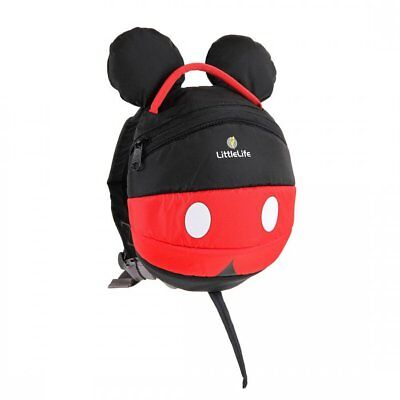 LittleLife Disney Mickey Mouse Toddler Backpack With Rein • 12.99£