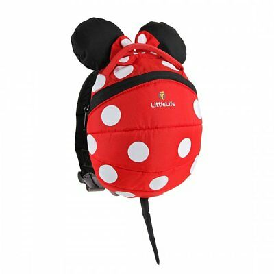 LittleLife Disney Minnie Mouse Toddler Backpack With Rein • 9.99£