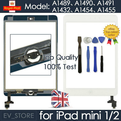 £7.94 • Buy White For IPad Mini 1 2 Retina Screen Touch Digitizer Replacement Home Button IC