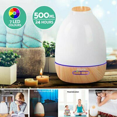 AU29.44 • Buy Essential Oil Aroma Aromatherapy LED Air Humidifier Mist Purifier Diffuser 500ml