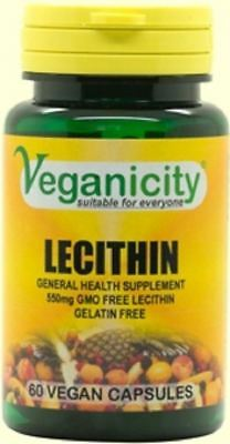 £7.05 • Buy Veganicity Lecithin 550mg 60 Vcaps  Naturally Rich In Choline And Inositol!