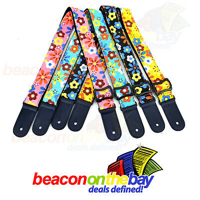 AU15.99 • Buy Adjustable Ukulele Shoulder Strap Nylon Cotton Colourful Classic Design Ukelele