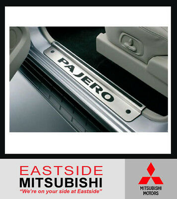 AU239.67 • Buy Genuine Mitsubishi Pajero Ns-nx Lwb Front Scuff Plates Stainless Steel