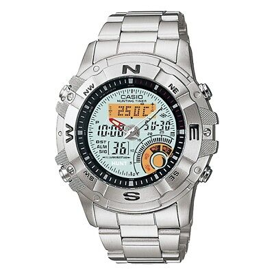 Casio Multi-function Watch Outgear Thermometer Moon Phase AMW704D UK Seller • 108.95£