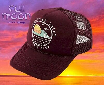 $17.95 • Buy New O'NEILL Sea Vibes Burgundy Womens Snapback Trucker Cap Hat