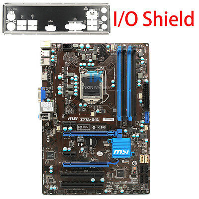 AU110.10 • Buy For MSI Z77A-G41  Motherboard LGA 1155 DDR3 For I3 I5 I7 CPU 32GB I/O Shield