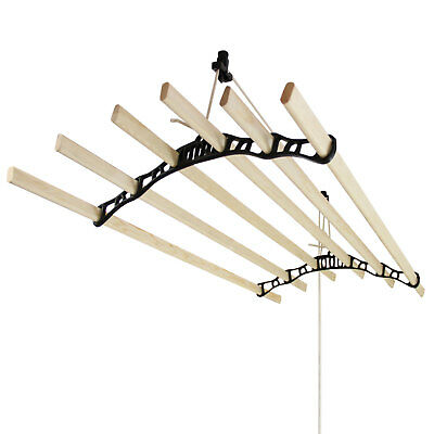 £84.99 • Buy Clothes Airer Ceiling Pulley Maid Traditional Mounted Dryer 6 Lath 1.8m Black